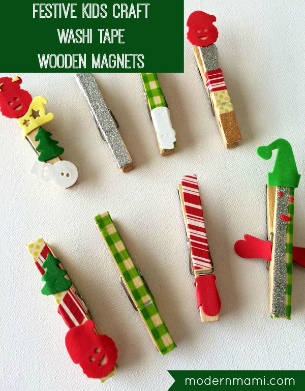 Simple, Festive Christmas Wooden {Kids Craft