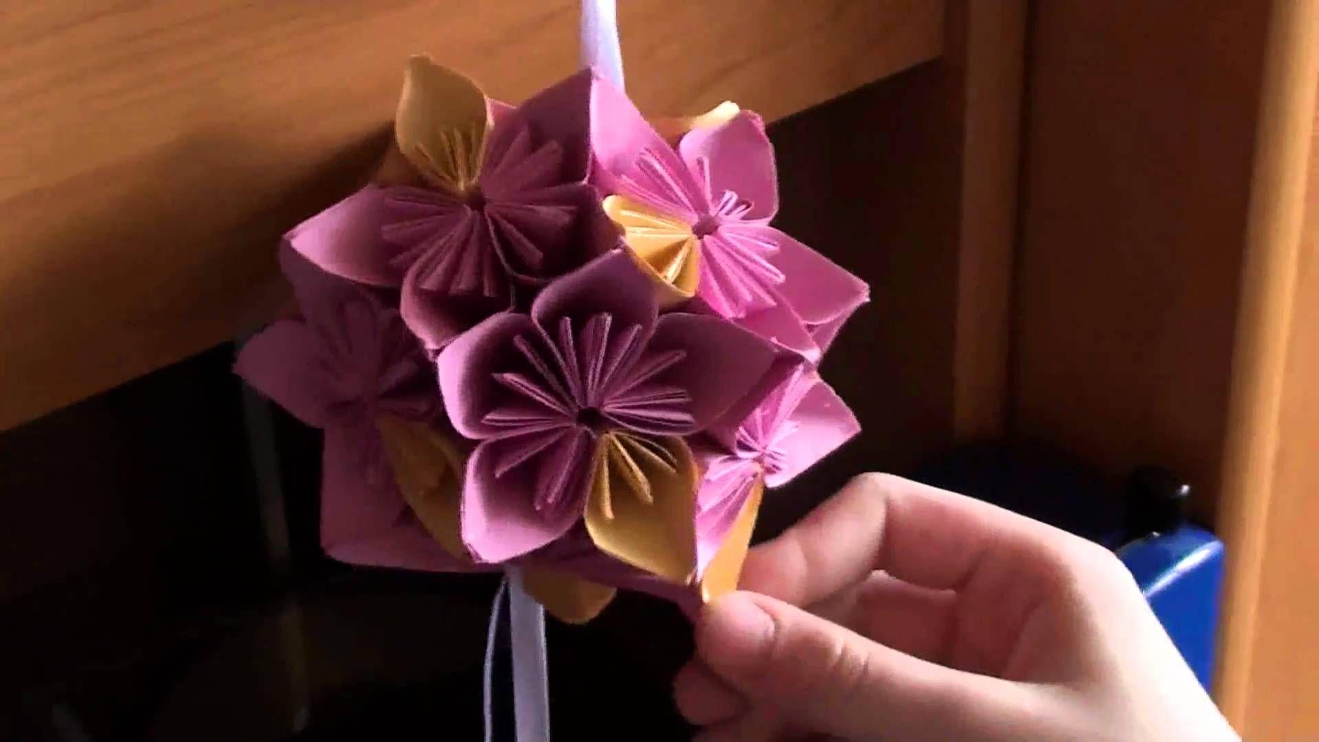 Latwa Do Zrobnia Kula Z Papieru Floral Rings Youtube Flowers