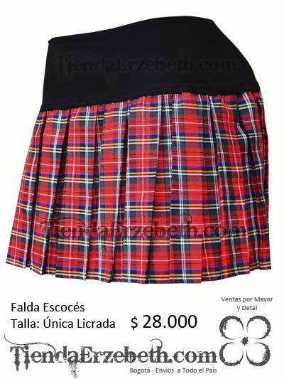 Falda Escoses Bogota roja prenses medellin cali barranquilla yopal cartagena tunja sex shop tienda ropa lenceria femenina almacen ventas por mayor panama caracas lima quito
