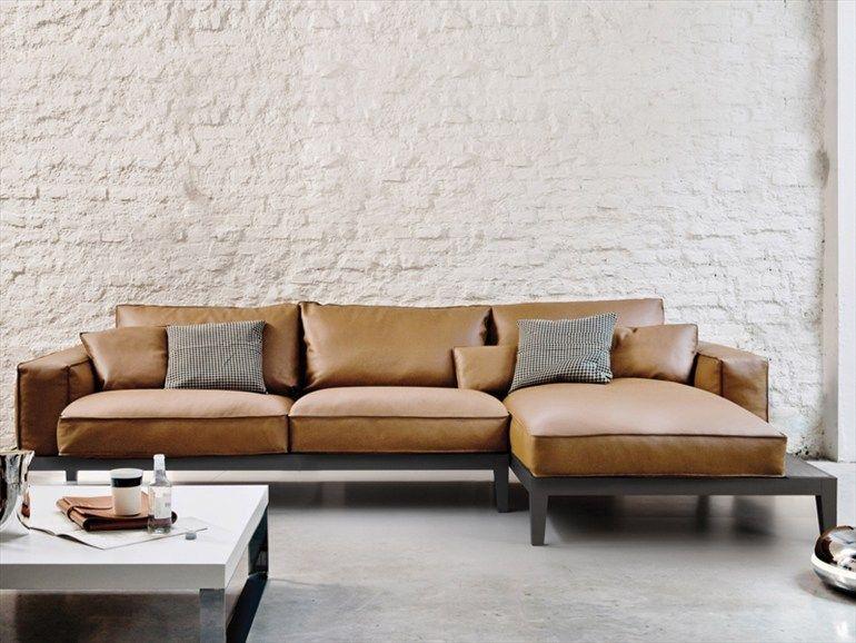 Chwalebne Brązowa skórzana sofa | home deco | Wnętrze NG84