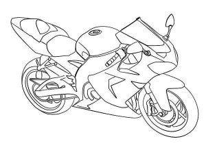 Ninja Kawasaki Motorcycle Coloring Page With Images Coloring
