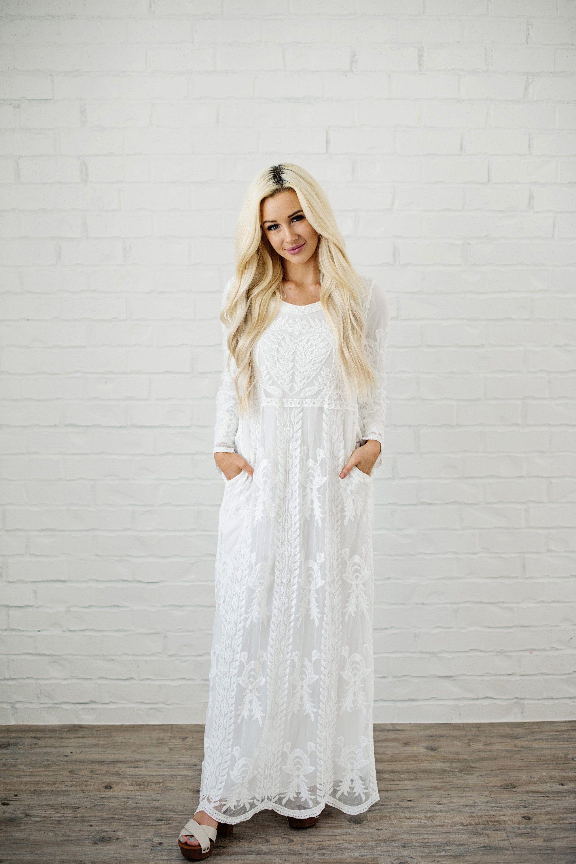 Cosette Lace Temple Dress Livy Kate Clothing Temple Dress White Lace Maxi Dress Lds Temple Dress [ 2997 x 2000 Pixel ]