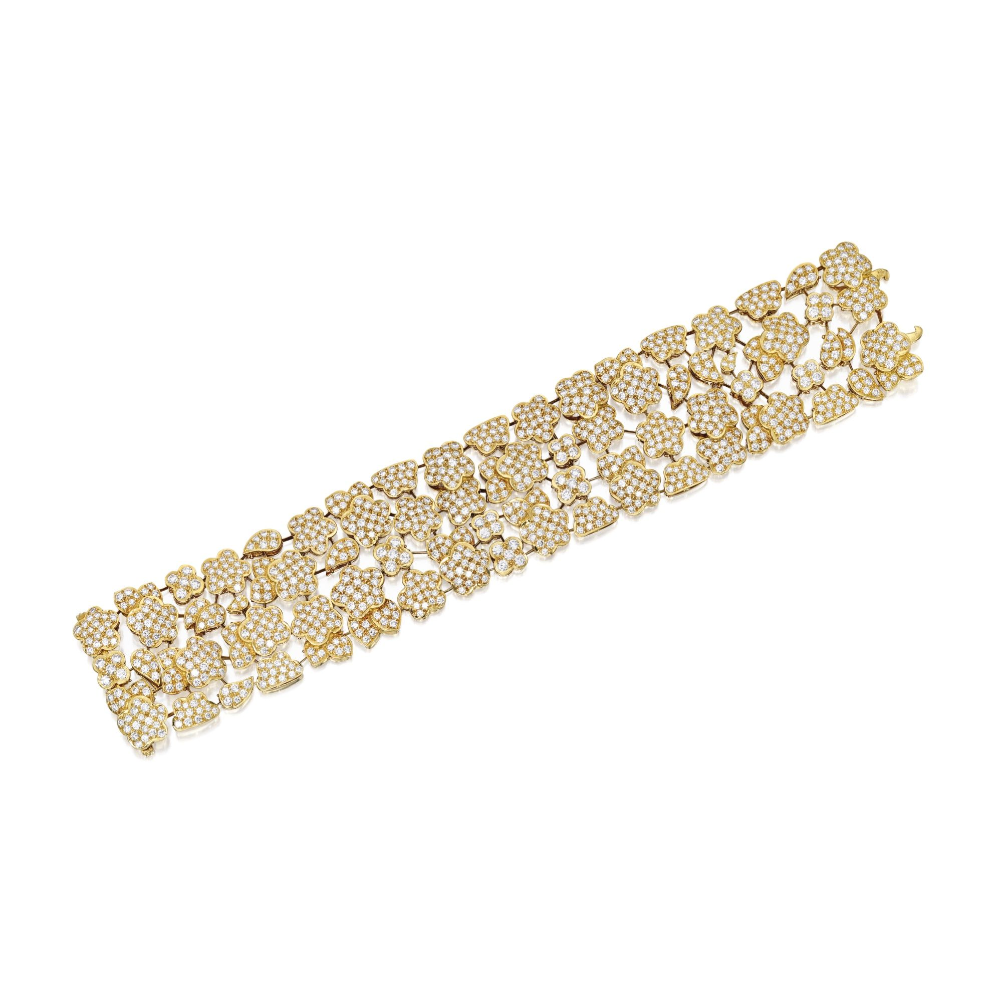 karat gold and diamond umélusineu bracelet van cleef u arpels