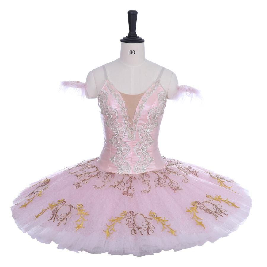 Adult Ballet Dress Bubble Sleeves Tutu Skirt Dancewear Stage Performance Costume