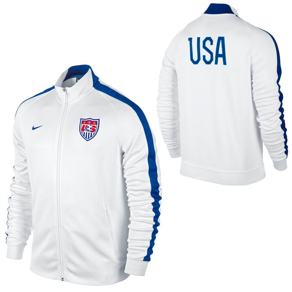 Nike US Soccer N98 Full Zip Track Jacket White   Soccer
