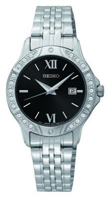 Buy Seiko Ladies' Black Dial Stainless Steel Bracelet Watch at Argos.co.uk, visit Argos.co.uk to shop online for Ladies' watches