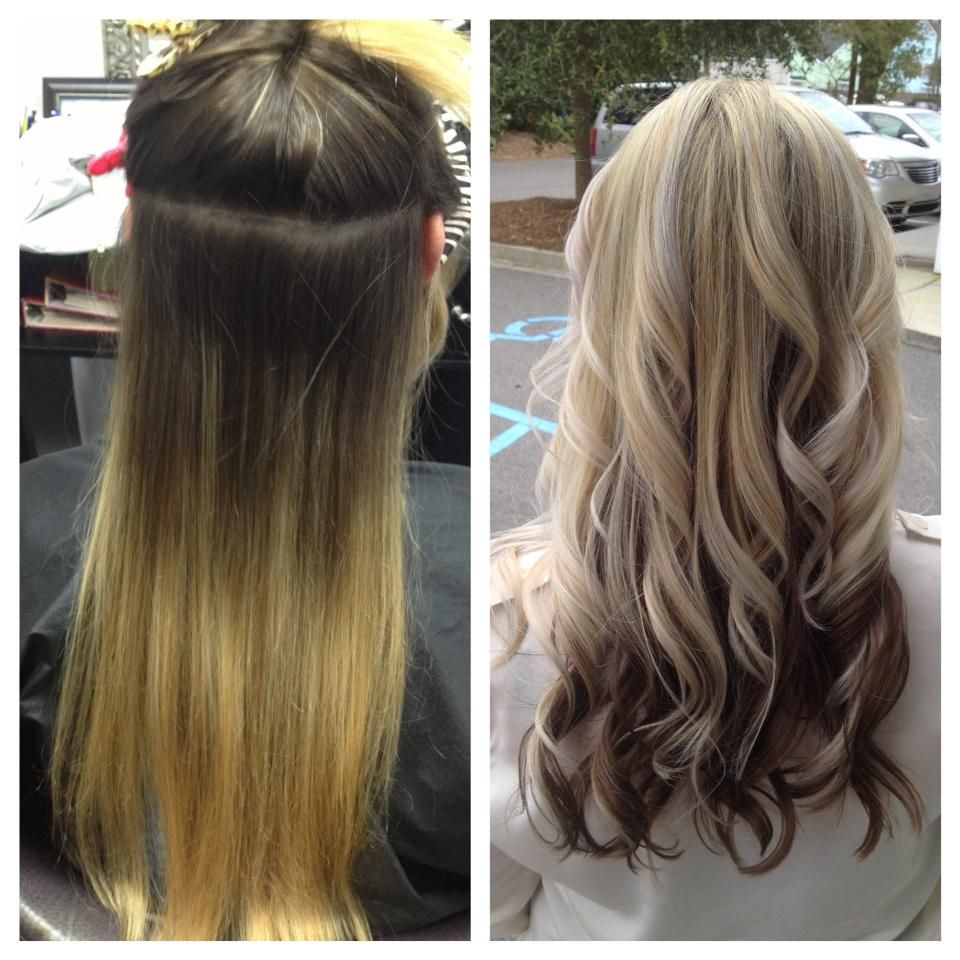 Before Meets After Blonde And Brown Hair I Would To Do The But With On Bottom Top