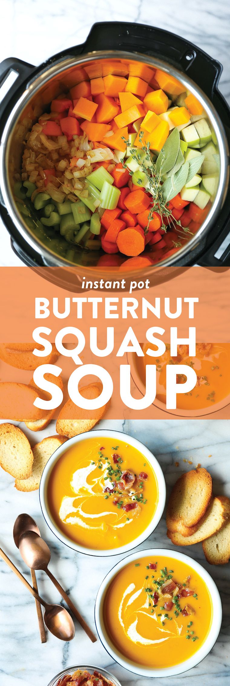 Instant Pot Butternut Squash Soup - Page 3 of 29 Recipe | Damn...