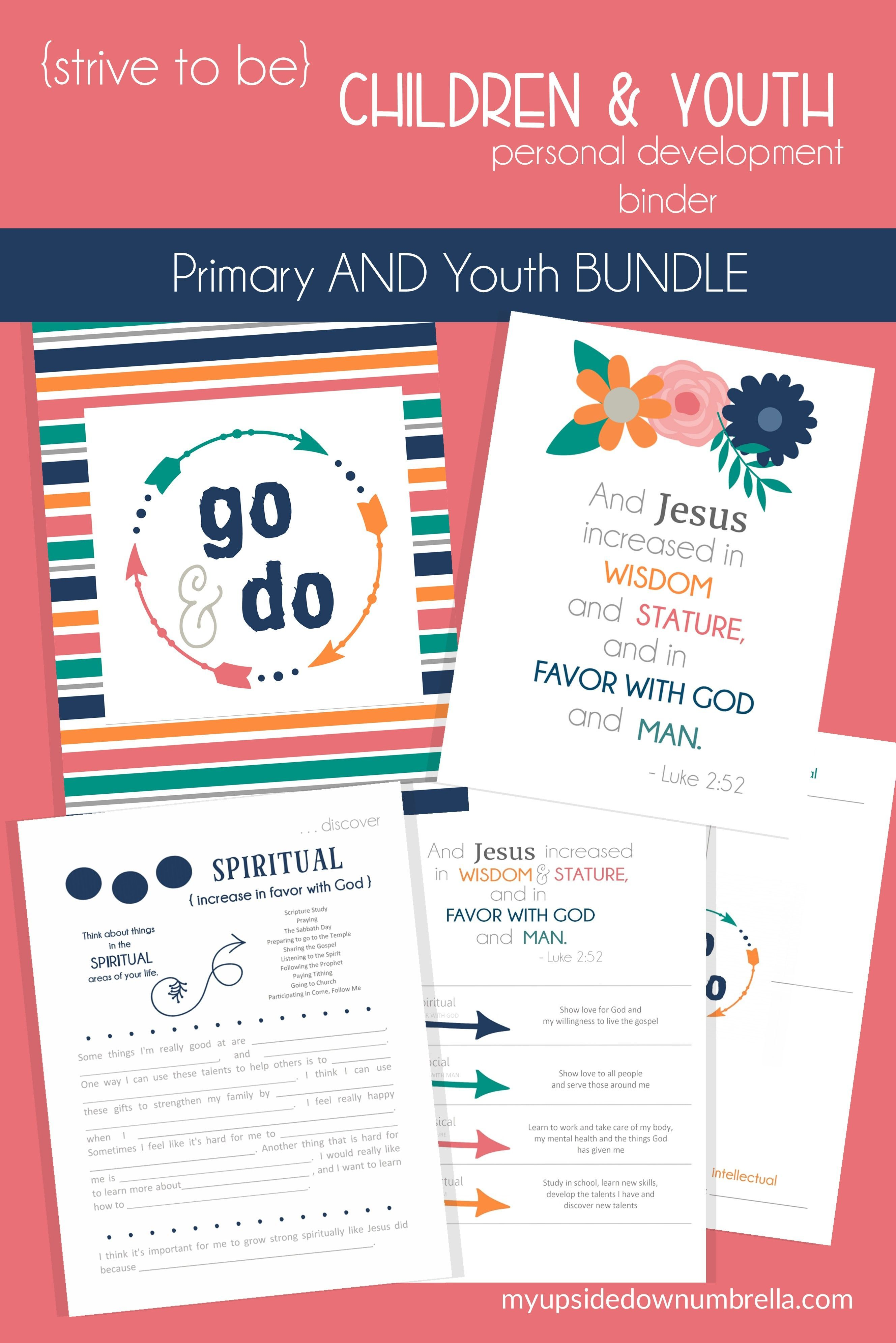 Children And Youth Lds Personal Development Journal Bundle