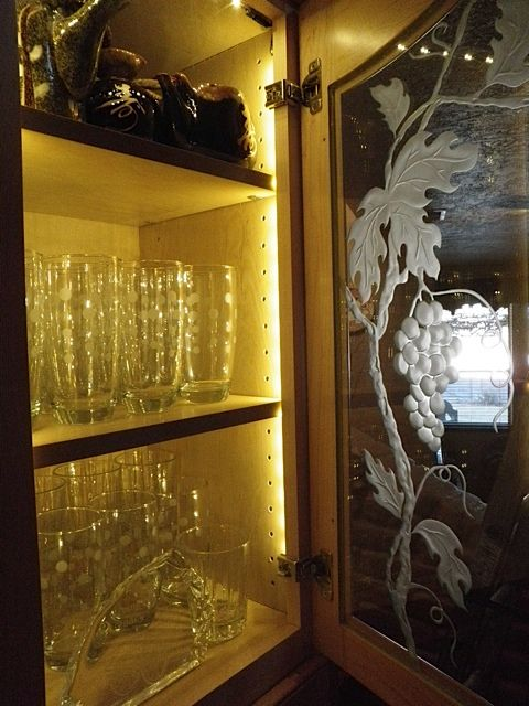 How To Installing Glass Cabinet Lighting Glass Cabinet Glass Cabinet Doors Strip Lighting
