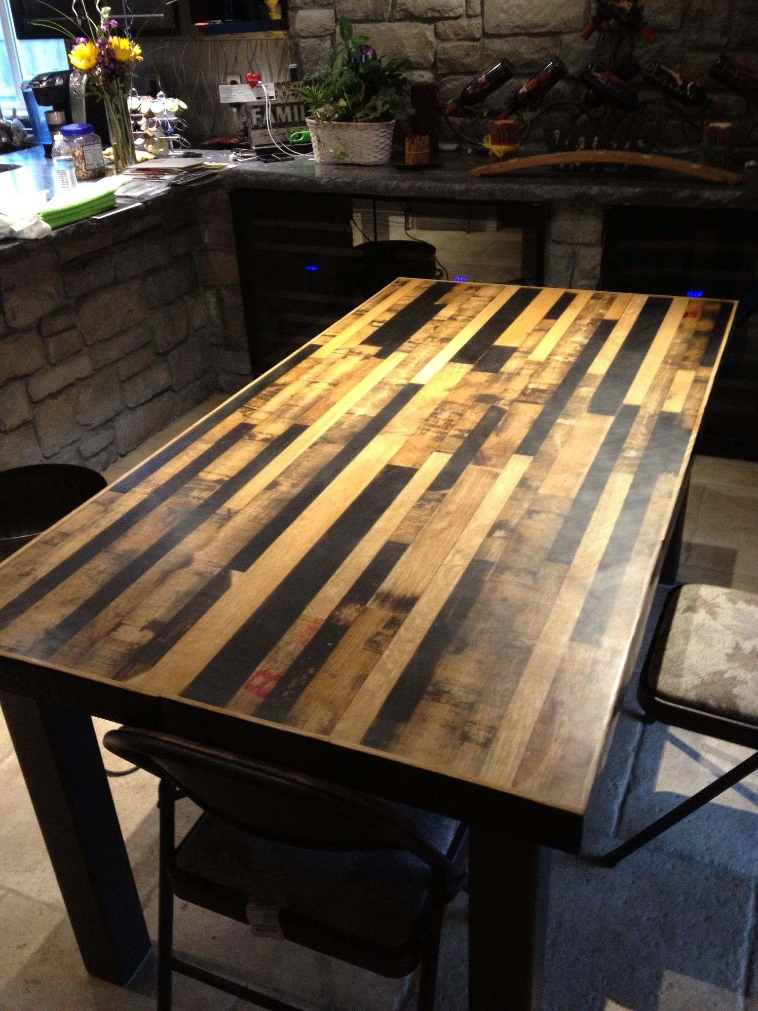 Bourbon barrel table wine crafts pinterest