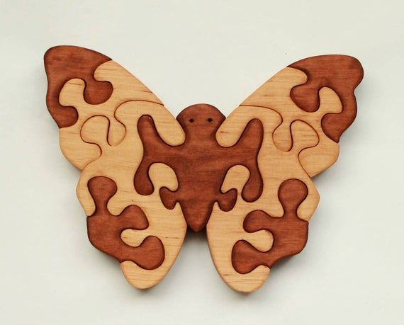 Wooden butterfly Wooden Puzzles Wood Puzzle Animal Puzzle Zoo Animal Kids Puzzle Wooden Toy Wood Toy Baby Puzzle Baby Gift  1 Ren Ideas