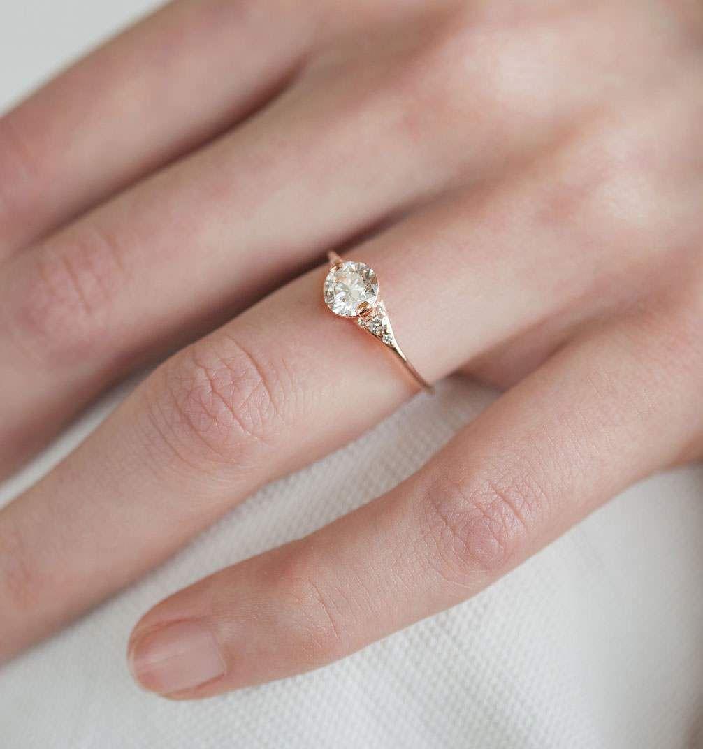 0.45ct Skinny Thin Diamond Engagement Ring, Knife Edge Diamond Ring ...