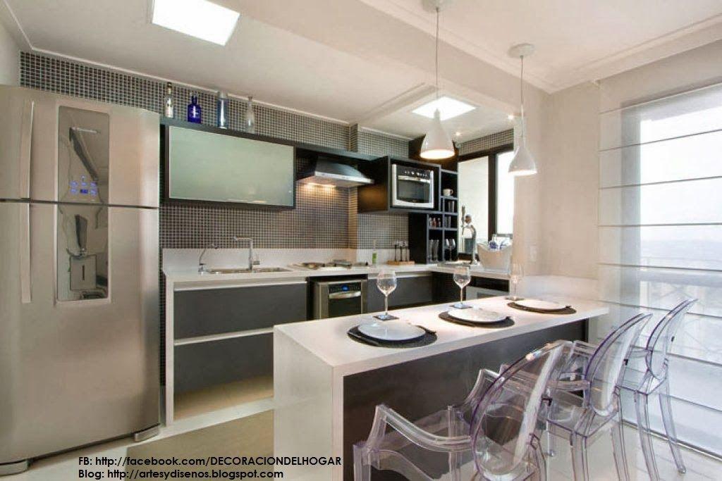 Diseño de Cocinas con Barras Originales y Funcionales | cocinas ...