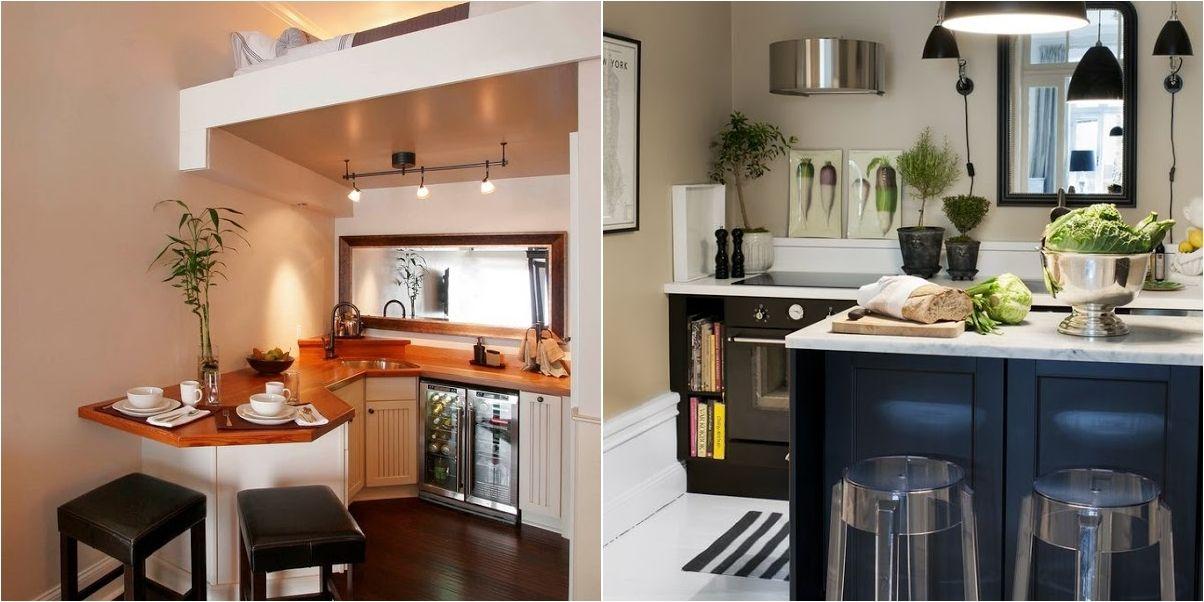 Tienes una cocina peque a y no sabes c mo decorarla - Alicatar cocina detras muebles ...