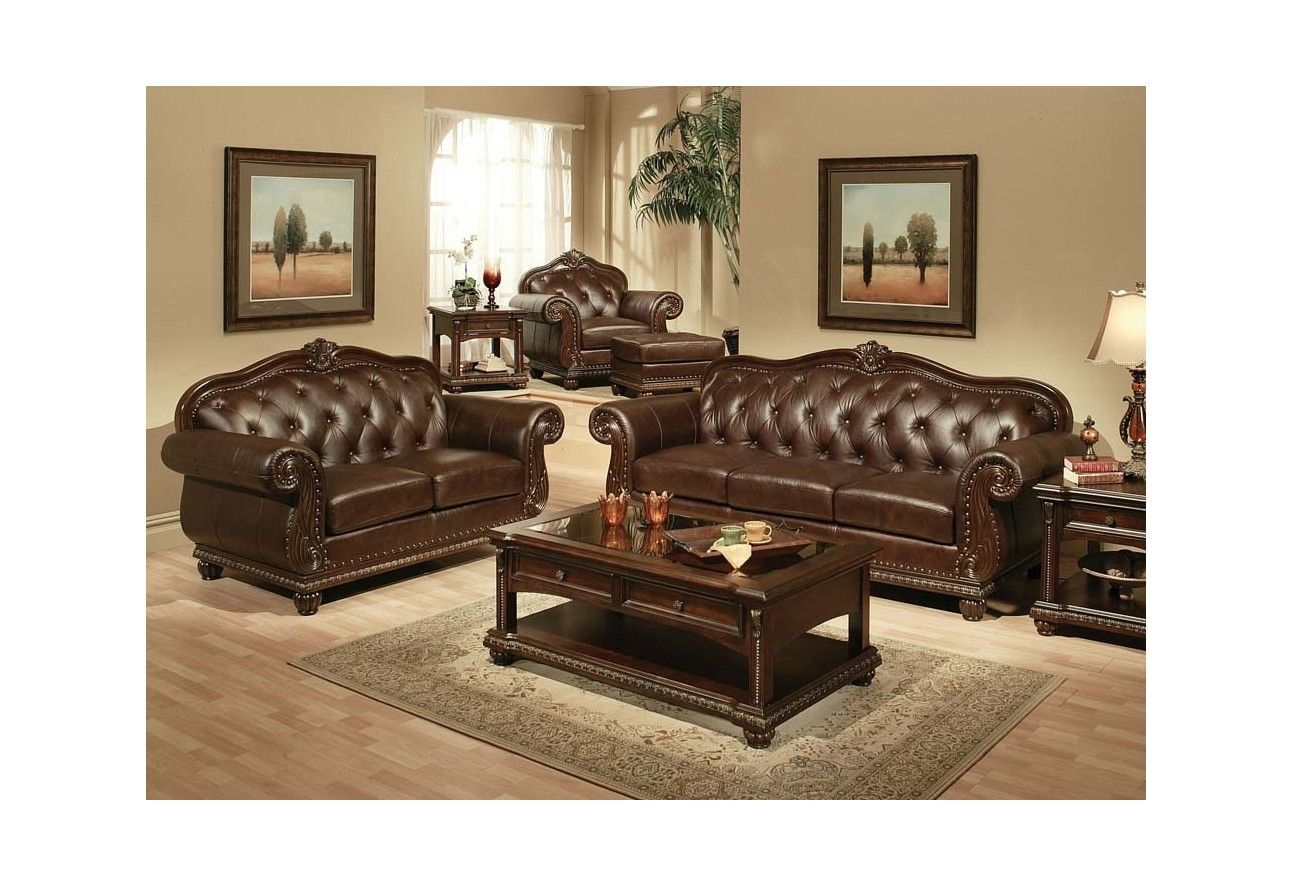 top grain leather living room set – modern house