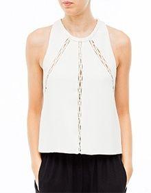 Shop online Mallorca:www.forumshop.es - Top Calado IRO http://forumshop.es/es/tops-y-camisas/11453-tops-y-camisas-iro-top-calado---blanco.html