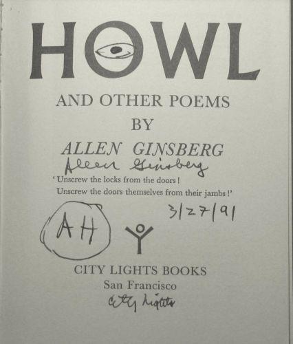 A signed copy of Allen Ginsberg's Howl poem on eBay