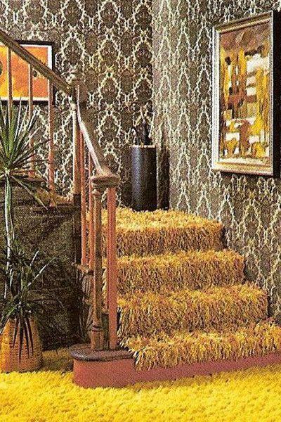 1974 1970s Decor 70s Decor Wall Treatments