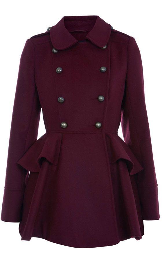 Miss Selfridge Berry Full Skirted Coat, £75