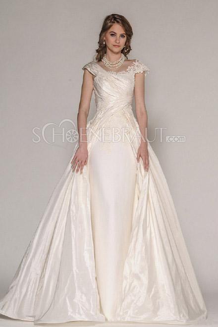 Brautkleider für mollige standesamt Hochzeitskleider A
