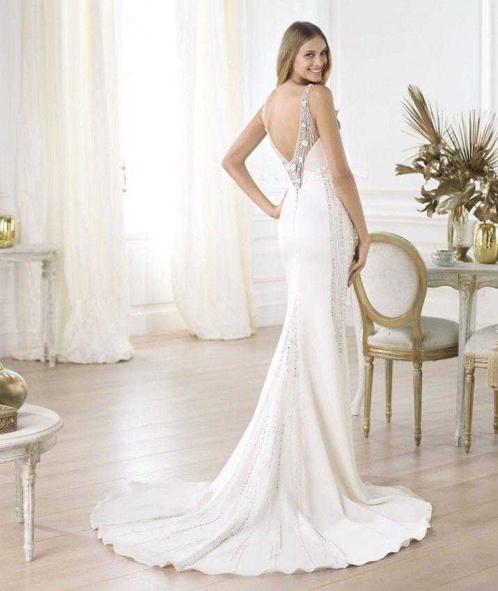 vestido de novia con espalda descubierta | novias. | pinterest