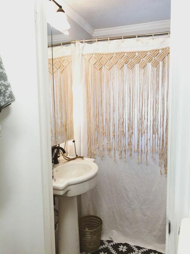 Bohemian Shower Curtain In 2020 Diy Shower Curtain Diy Curtains