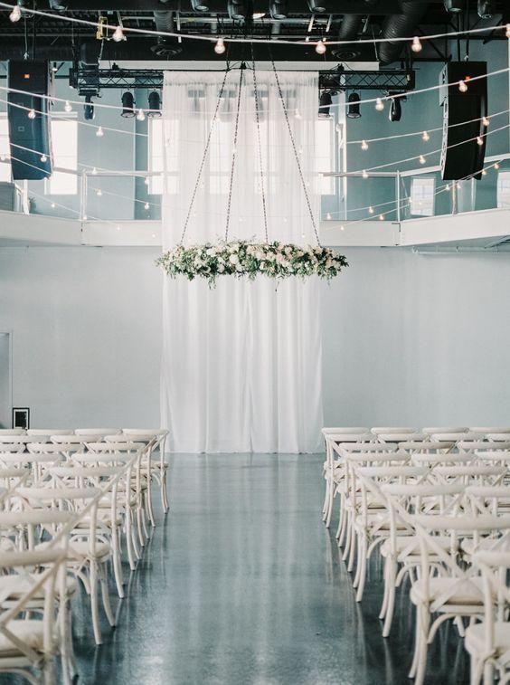 Wedding Ceremony Inspiration | Minimalist wedding decor ...