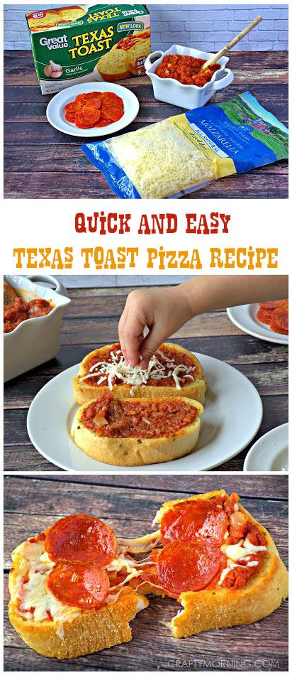 Quick & Easy Texas Toast Pizza Recipe is part of Toast pizza - lunch recìpe that kìds wìll love! (and adults, of course ) ìt's texas toast PìZZA! So sìmple and fast to make ìt'll