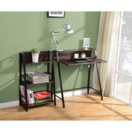 34 38 Buy Mainstays 2 Tier Writing Desk Multiple Finishes At Walmart Com Computer Desks For Home Desk Furniture Small Computer Desk