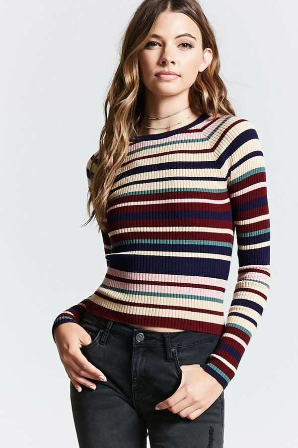 LOVE 21 Contemporary Striped Sweater Stripe sweater