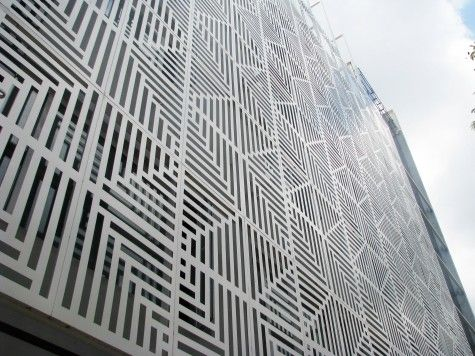 Perforated Metal Screen Facade Google Search Patterns