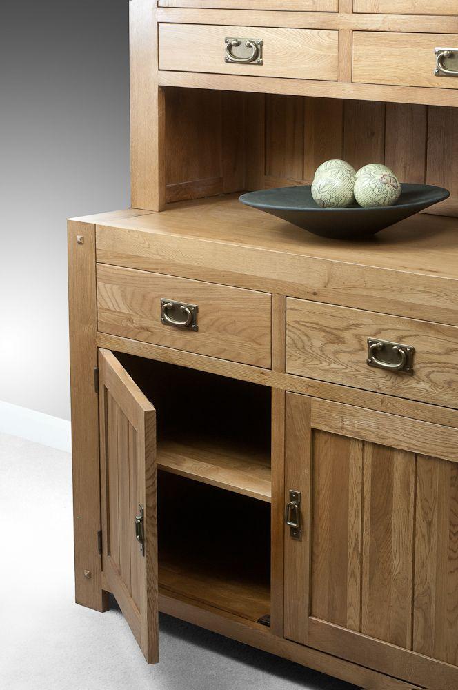 Quercus Solid Oak Furniture Range Oak Cabinet  Oak Welsh Dresser