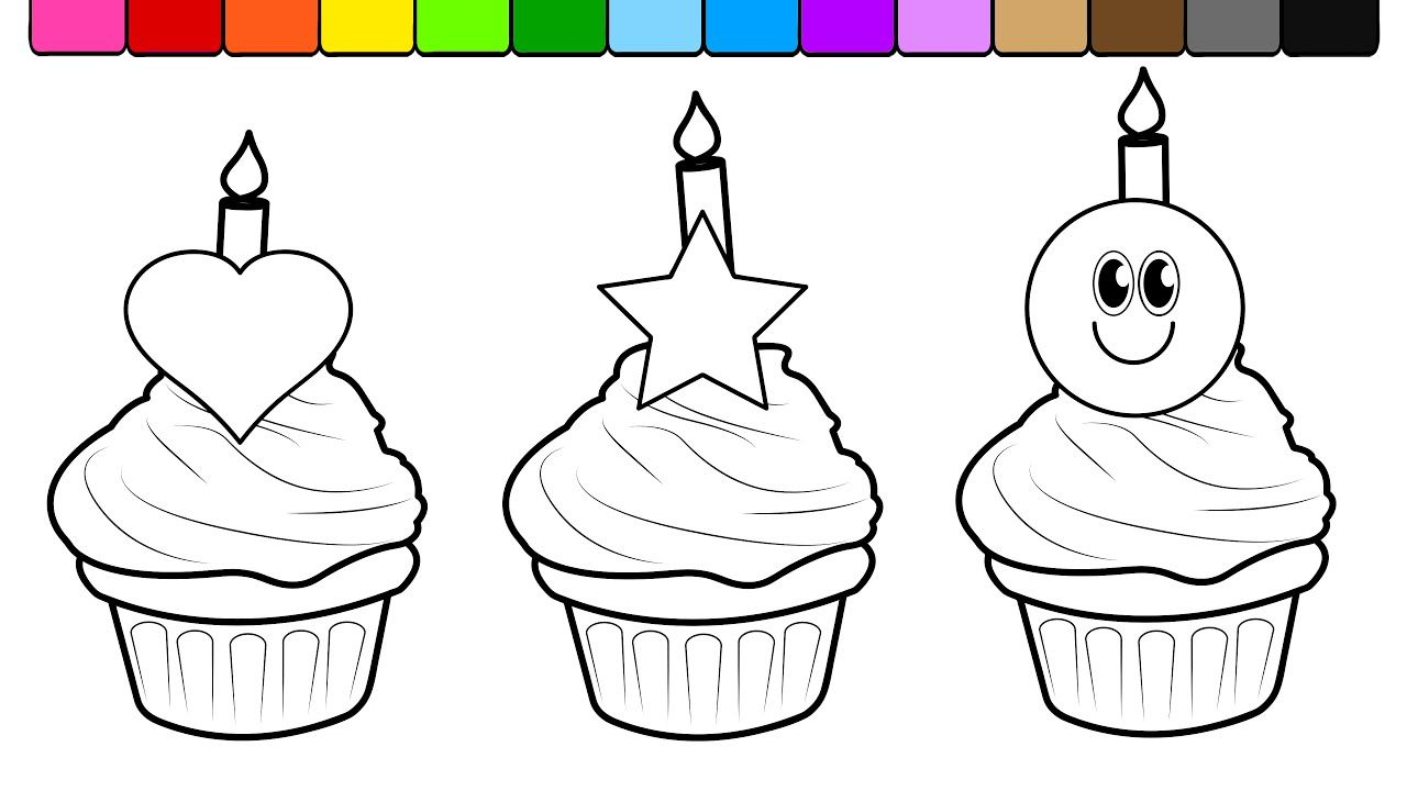 coloring picture cake | Coloring pages, Cartoon coloring ...
