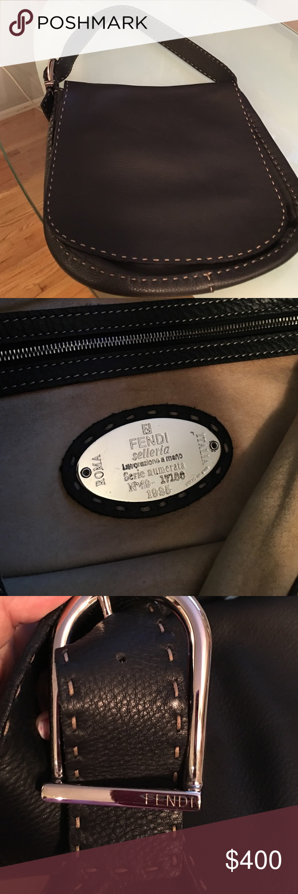 0ab4adae14 Black fendi hand bag