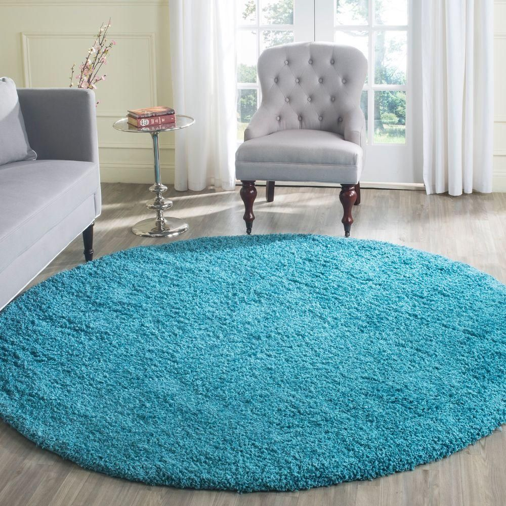 Laguna Turquoise 6 Ft 7 In X Round Area Rug