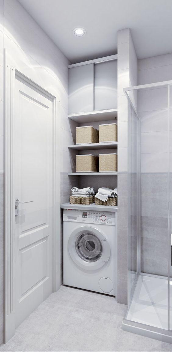 Bagno Piccolo Con Doccia E Lavatrice.Come Nascondere Una Lavatrice In Bagno Guida Con Foto