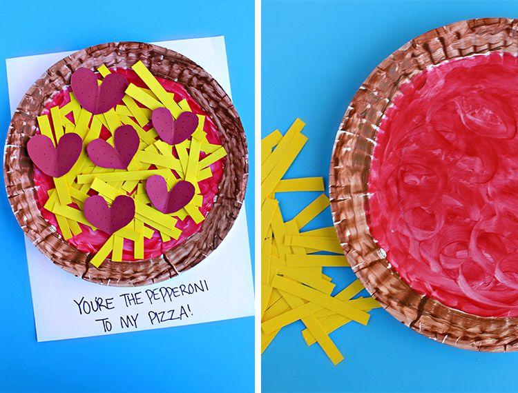 paper plate pizza valentine