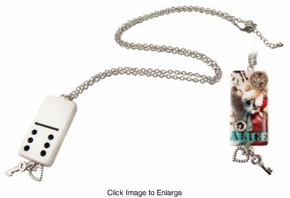 "2.5"" Steampunk Alice Domino Necklace for $15.00"