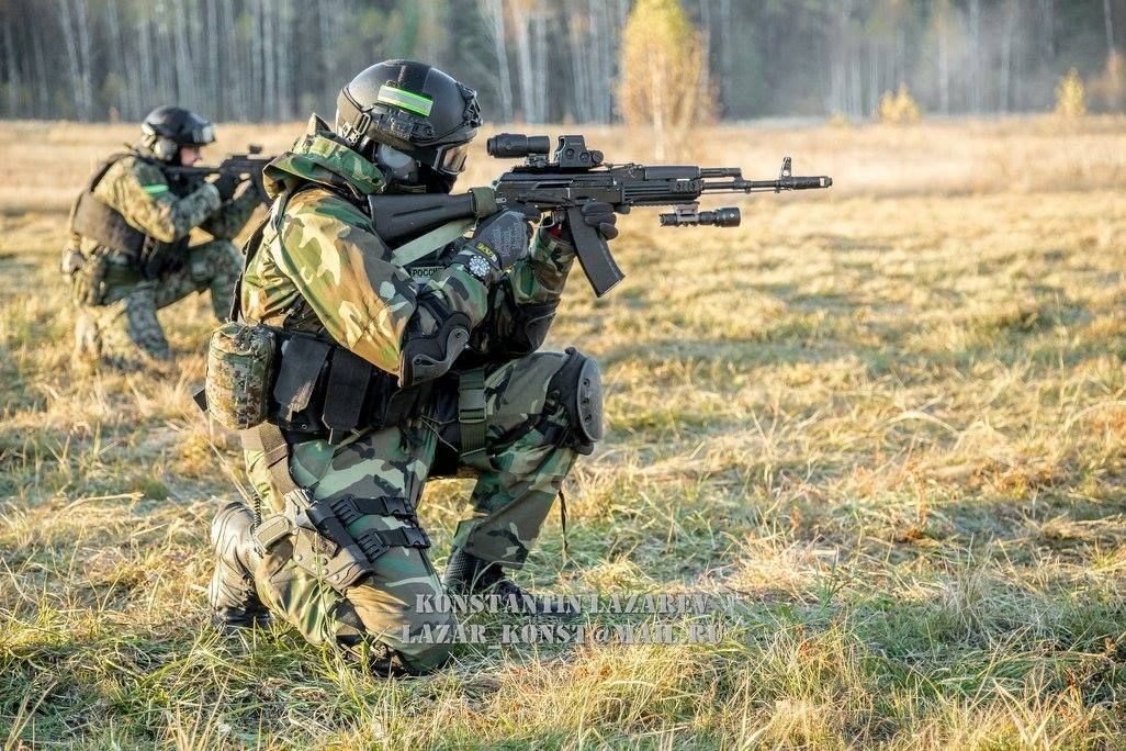 Russian Border Guards During Drills