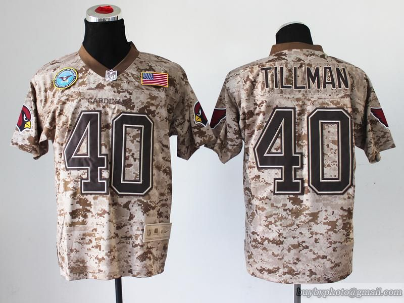 Nike NFL Men Cardinals  40 Pat Tillman Salute to Service Digital Camo Elite  Stitched Jersey 95ad67935