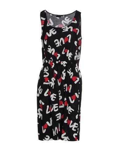 Love Moschino Woman Printed Ruffled Jersey Mini Dress Fuchsia Size 40 Love Moschino iyt58EPLNA