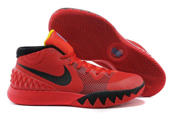 brand new 0cea4 67125 2018 Official Kyrie 1 Deceptive Red Bright Crimson Black University Red  Blue Lagoon Tour Yellow 705277 606