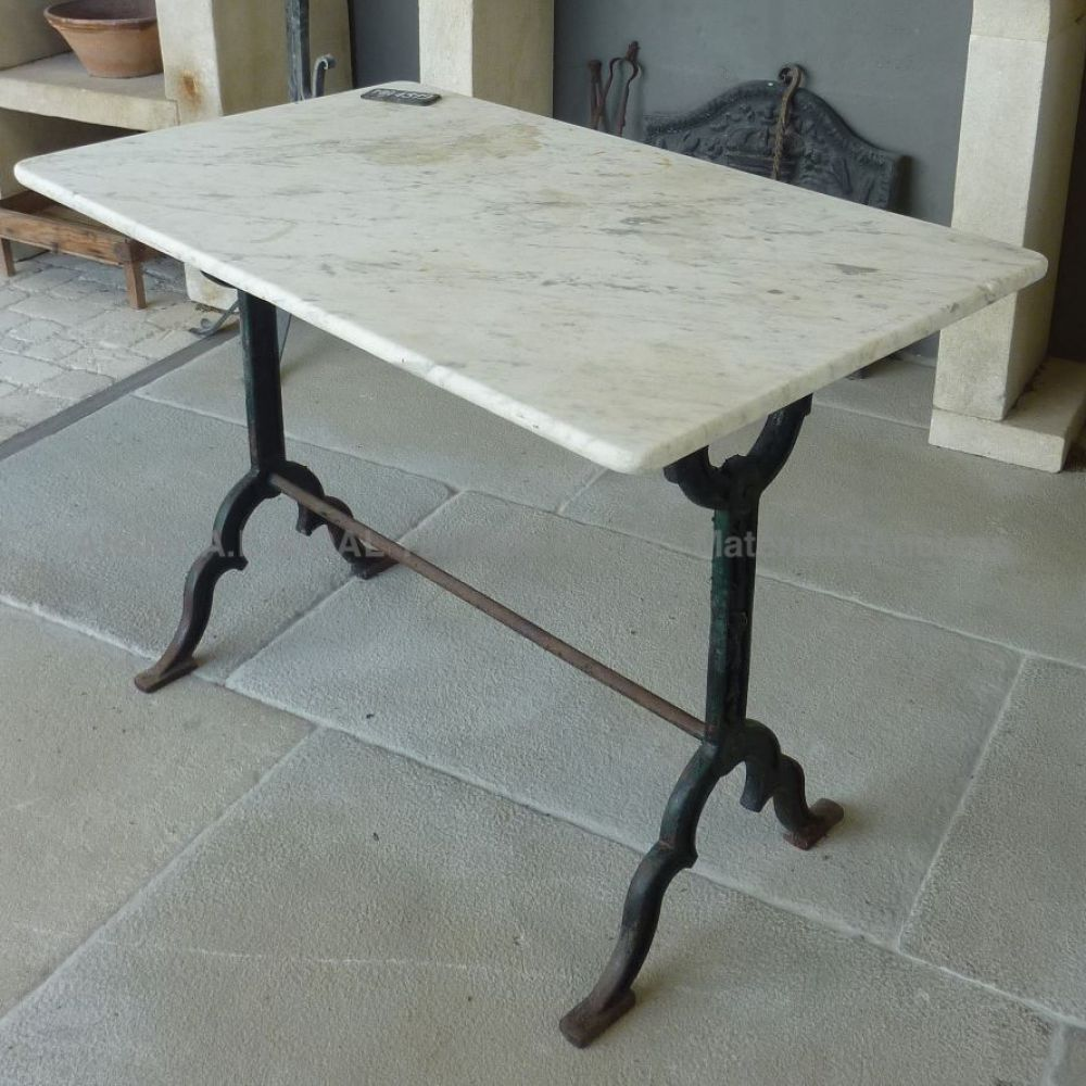 Mat riaux anciens table en marbre et en fonte ancienne - Table de jardin en marbre ...