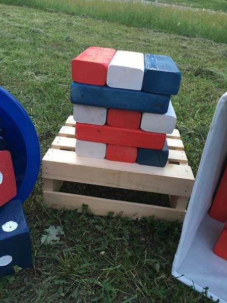 Patriotic Yard Game Set FREE SH With Code BLACKFRIDAY40 Upper Fascinating Lawn Game With Wooden Blocks