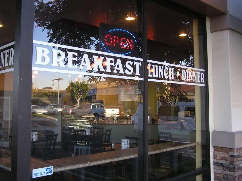 Restaurant Window Lettering Store Window Displays Sandwich