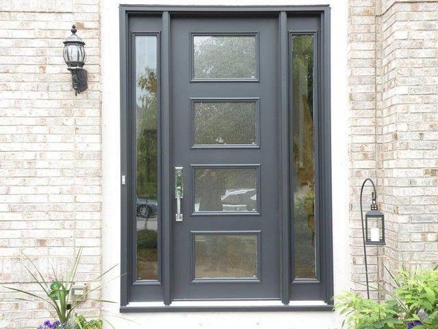 modern grey pulse series entry door bedroom pinterest doors