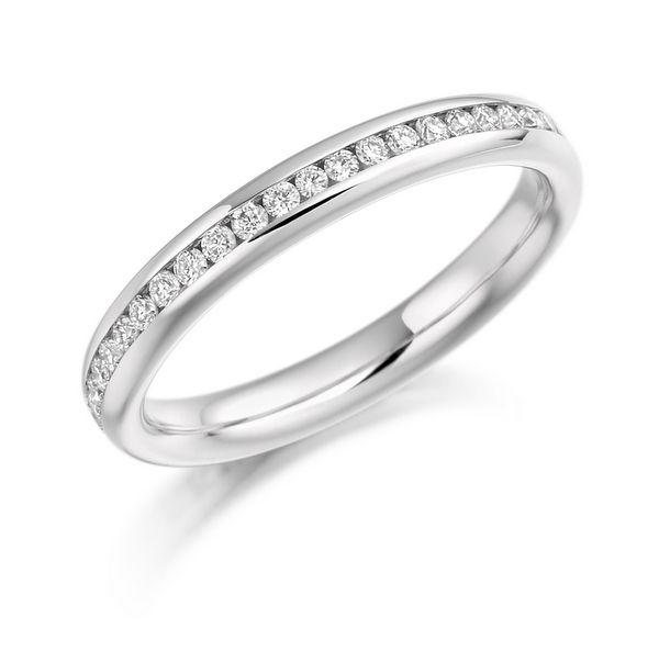 Fresh Channel Set Brilliant Cut Diamond Full Eternity Ring ct