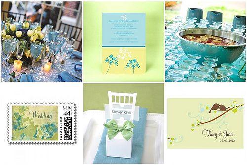 Spring Wedding Color Palette Idea - Turquoise, Mint and Lemon ...