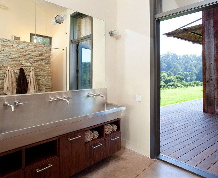 Moderne Badezimmermobel Im Rustikalen Stil 49 Modelle Tiefes Waschbecken Moderne Hausentwurfe Und Design Fur Zuhause